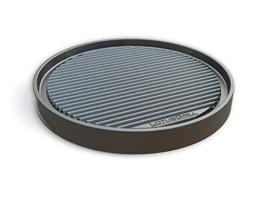 Runde Grillplatte, passend für einen Lotusgrill in schwarz