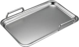 Teppanyaki Platte mit Griffen an den langen Seiten in Silber