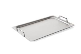 Teppanyaki Platte in Silber mit 2 Griffen
